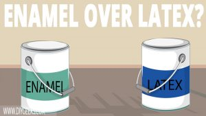 Enamel and latex are both durable paints. So, can you apply enamel paint over latex paint? Yes, you can. But, you have to sand the latex paint first before applying enamel.