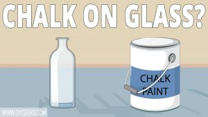 Not a lot of paints can stick to glass. So, can you use chalk paint on glass? Yes, you can. As long as the glass is clean the chalk paint will stick to the glass surface.